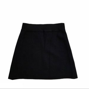 TAHARI black ribbed stretchy a-line pull on skirt